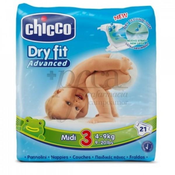 CHICCO PAÑALES DRYFIT T3 4-9KG 21 U