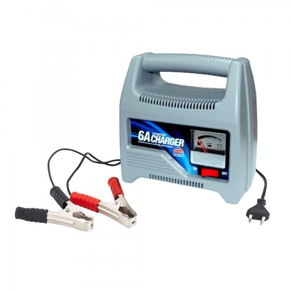 Cargador baterias rapido 12v./ 6a.