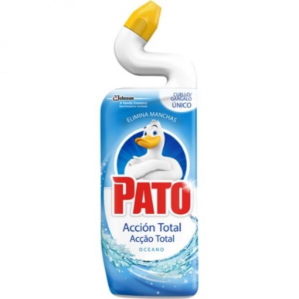 Pato accion total oceano  limpia inodoros 750 ml
