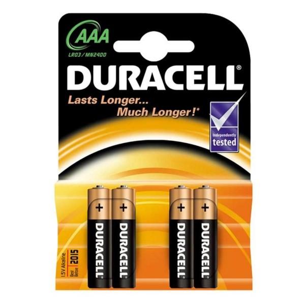 Duracell basic aaa pilas lr03 4un