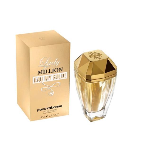 Paco rabanne lady milion eau my gold eau de toilette 80ml vaporizador