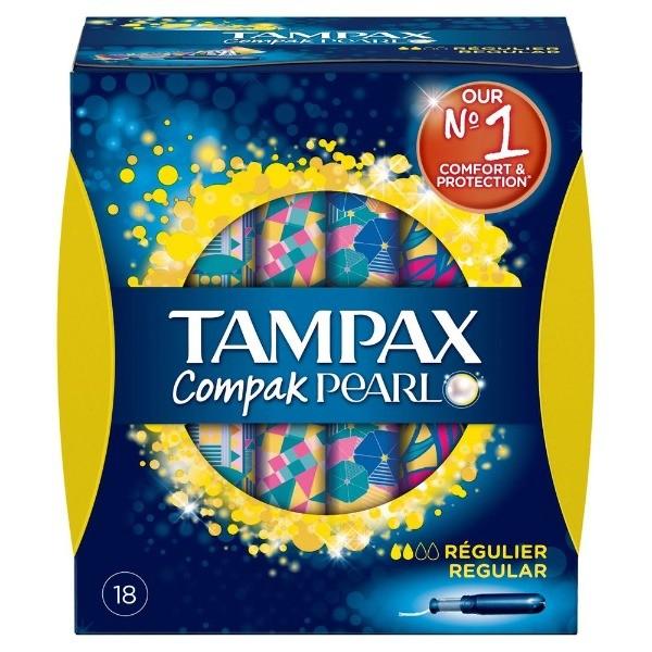 Tampax pearl compak regular 18 ud