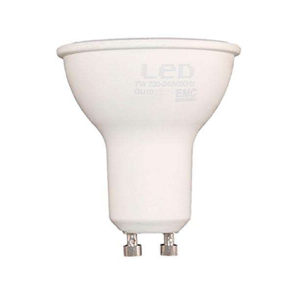 Sunmatic foco bombilla led casquillo gu10 7w 580 lumenes luz calida 3000k