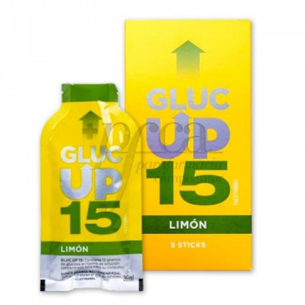 GLUC UP 15 FAES FARMA SABOR LIMON  5 STICKS