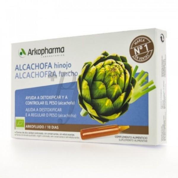 ARKOFLUIDO ALCACHOFA HINOJO 10 AMPOLLAS DE 15ML