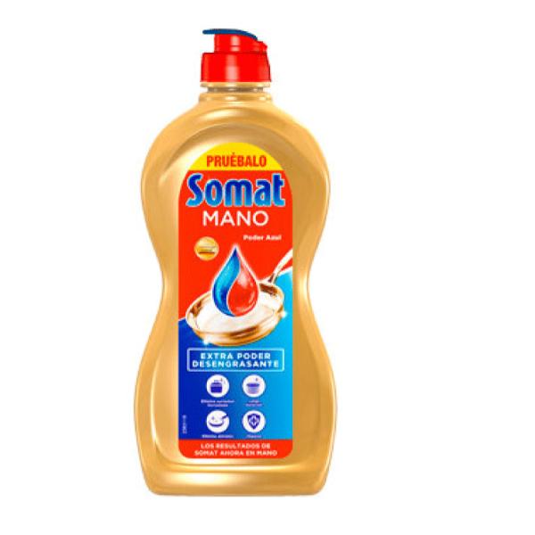 Somat gel lavavajillas a mano Poder Azul 350 ml