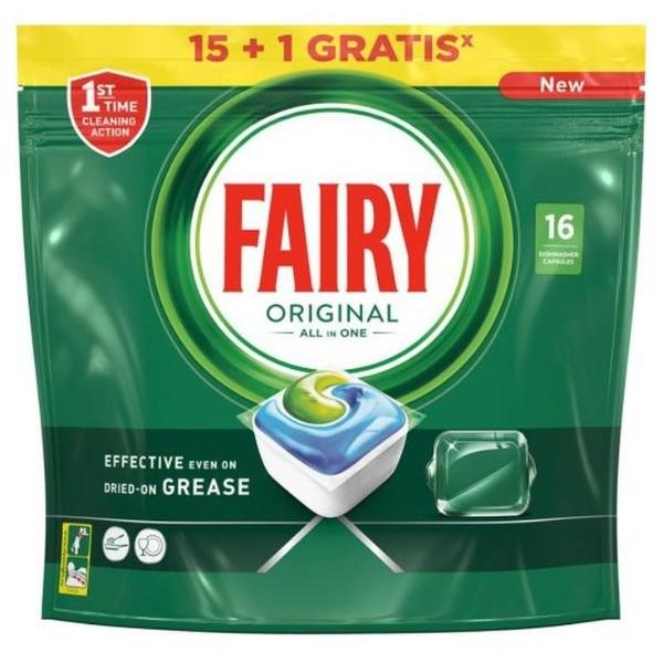 Fairy lavavajillas 15+1 cápsulas